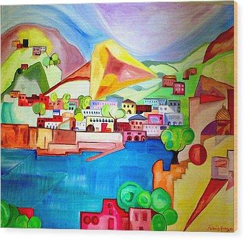 Sorrento Wood Print by Patricia Arroyo