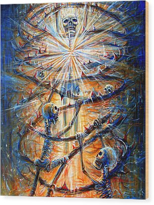 Wood Print featuring the painting Soul Evolution by Heather Calderon