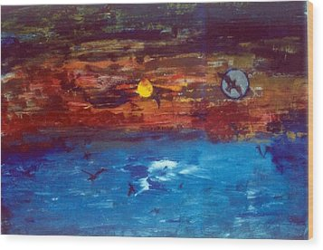 Soul Journey.. Wood Print by Rooma Mehra