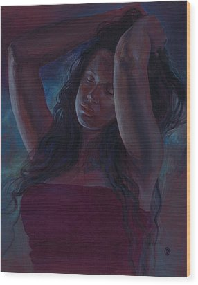 Wood Print featuring the painting Soul Nocturne by Ragen Mendenhall
