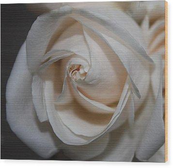 Soul Of A Rose Wood Print by Nancy TeWinkel Lauren