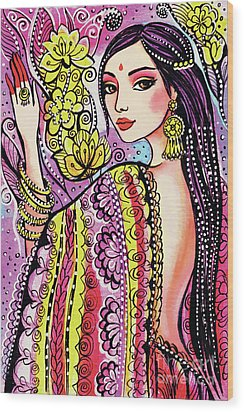 Soul Of India Wood Print by Eva Campbell