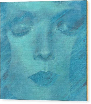 Wood Print featuring the painting Soul  by Ragen Mendenhall