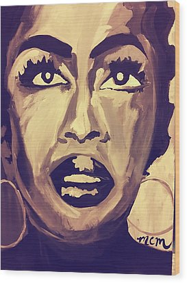 Soul Sister  Wood Print by Miriam Moran
