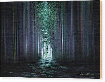 Soul Tree Wood Print by Svetlana Sewell