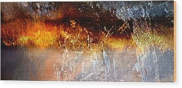 Soul Wave - Abstract Art Wood Print by Jaison Cianelli