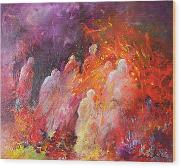 Souls In Hell Wood Print by Miki De Goodaboom