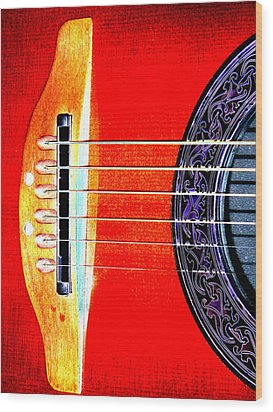 Sound Hole Wood Print by Peter  McIntosh