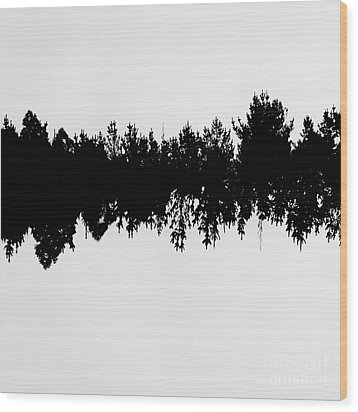 Sound Waves Made Of Trees Reflected Wood Print