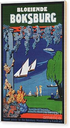 South Africa Boksburg Vintage Travel Poster Wood Print by Carsten Reisinger