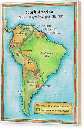 South American Independence Wood Print by Jennifer Thermes