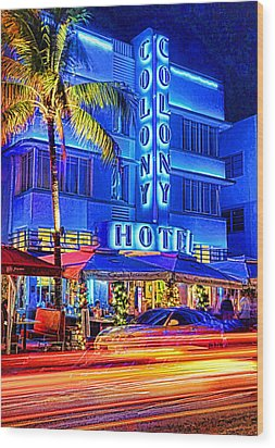 South Beach Art Deco Wood Print by Dennis Cox WorldViews