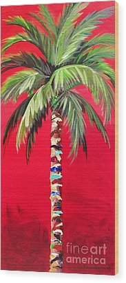 South Beach Palm II Wood Print by Kristen Abrahamson
