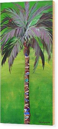 South Beach Palm IIi Wood Print by Kristen Abrahamson