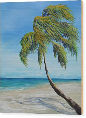 South Beach Palm Wood Print by Michele Hollister - for Nancy Asbell