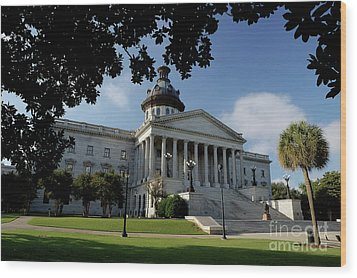 South Carolina State House 2 Wood Print by Michael Eingle