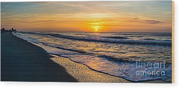 South Carolina Sunrise Wood Print