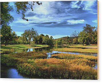Wood Print featuring the photograph South Fork River by Rick Friedle