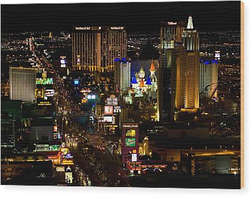 South Las Vegas Strip Wood Print by James Marvin Phelps