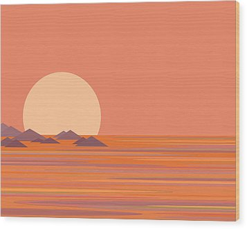 Wood Print featuring the digital art South Sea by Val Arie
