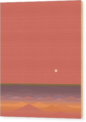 Wood Print featuring the digital art South Seas Abstract - Vertical by Val Arie