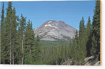 South Sister Wood Print by Larry Darnell