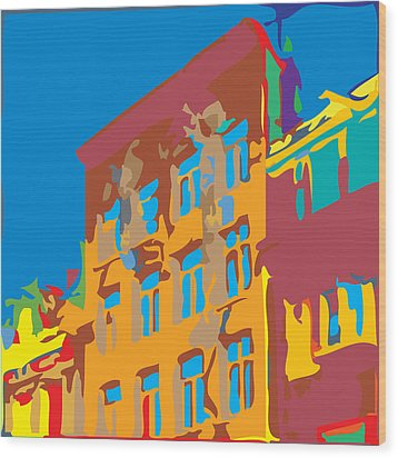 South Street Wood Print by Kevin  Sherf
