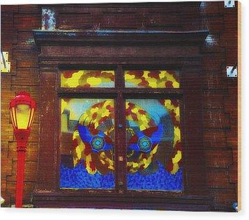 South Street Window Wood Print by Bill Cannon