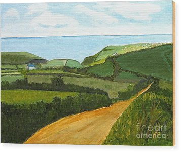 South West England Countryside Cotswold Area Wood Print