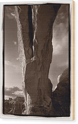 South Window Arch Arches National Park Wood Print by Steve Gadomski