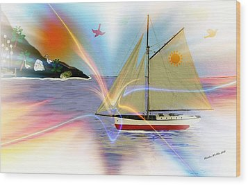 South Winds Wood Print by Madeline  Allen - SmudgeArt