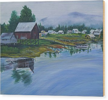 Southeast Alaska Wood Print