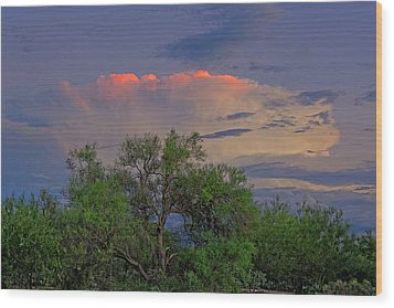 Wood Print featuring the photograph Southeast Of Sunset H38 by Mark Myhaver