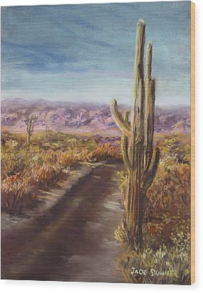Wood Print featuring the painting Southern Arizona by Jack Skinner