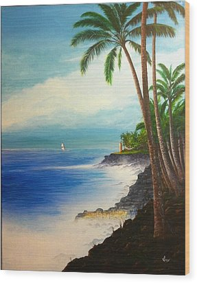 Wood Print featuring the painting Southern Breeze by Mike Ivey