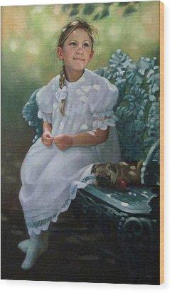 Southern Girl Portrait Wood Print by Janet McGrath