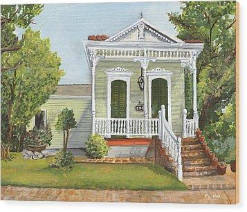 Southern Louisiana Charm Wood Print by Elaine Hodges