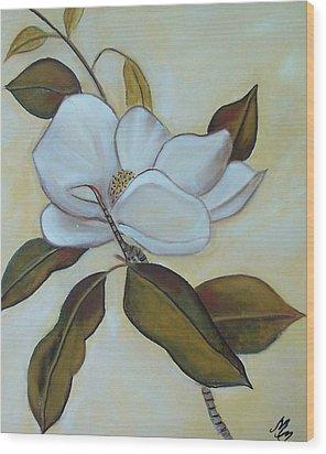 Southern Magnolia Wood Print by Martha Mullins
