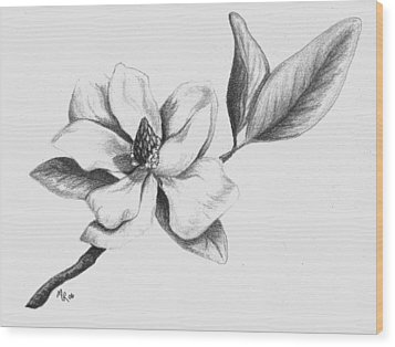 Southern Magnolia Wood Print by Mary Rogers