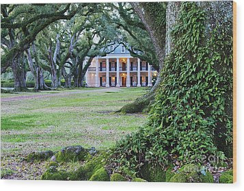 Southern Manor Home Wood Print by Jeremy Woodhouse