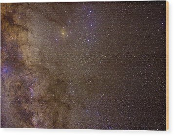 Southern Milky Way Wood Print