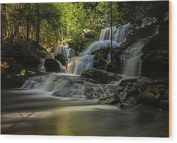Wood Print featuring the photograph Southern New Hampshire Garwin Falls by Juergen Roth