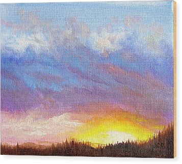 Southern Sunset Wood Print by JoAnne Castelli-Castor