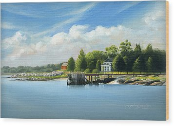 Southport Harbor Wood Print by John Deecken