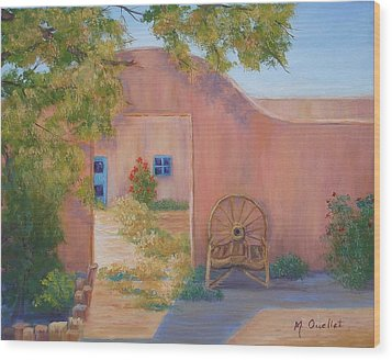 Southwest Wood Print by Maxine Ouellet