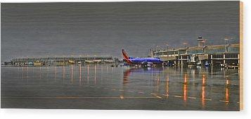 Southwest Plane In The Rain Wood Print