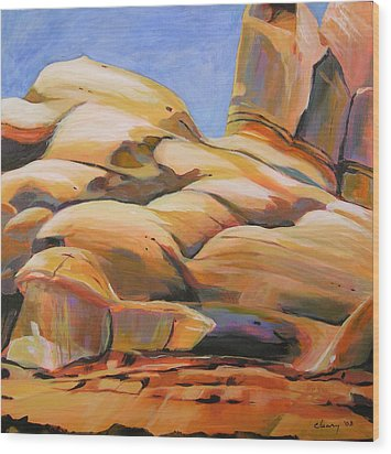 Southwest Stillness 3 Wood Print by Melody Cleary