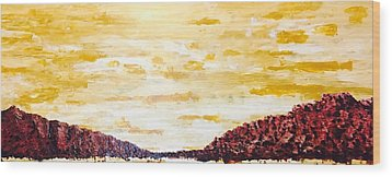 Southwestern Mountain Range Wood Print