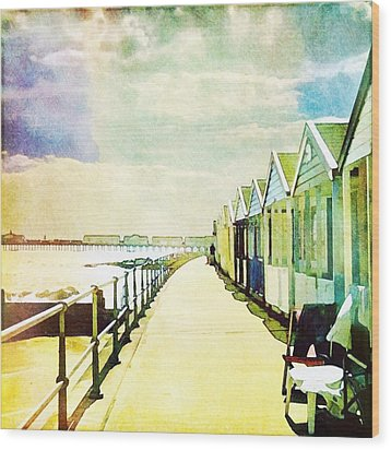 Wood Print featuring the photograph Southwold Beach Huts by Anne Kotan