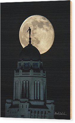 Sower's Moon Wood Print